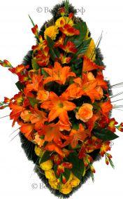 Фото - Траурный венок из искусственных цветов - Элитный #51